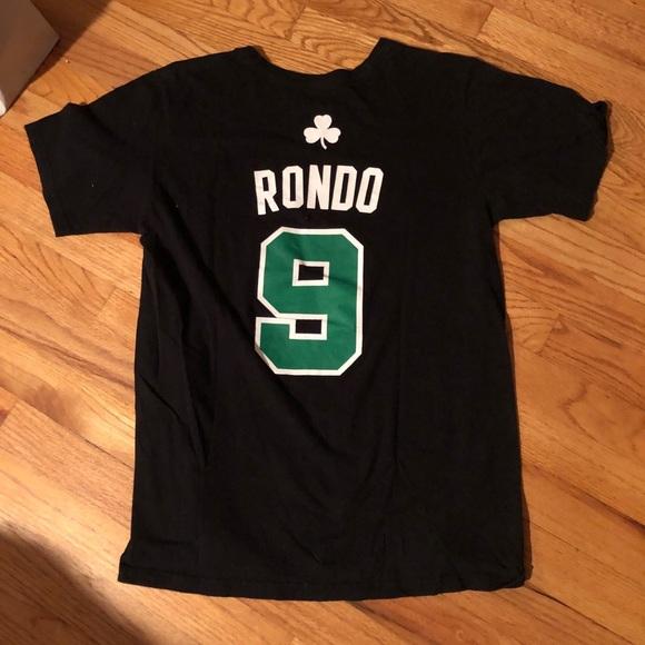 new product 01ee2 2c9b0 Boston Celtics Rajon Rondo T-shirt Jersey